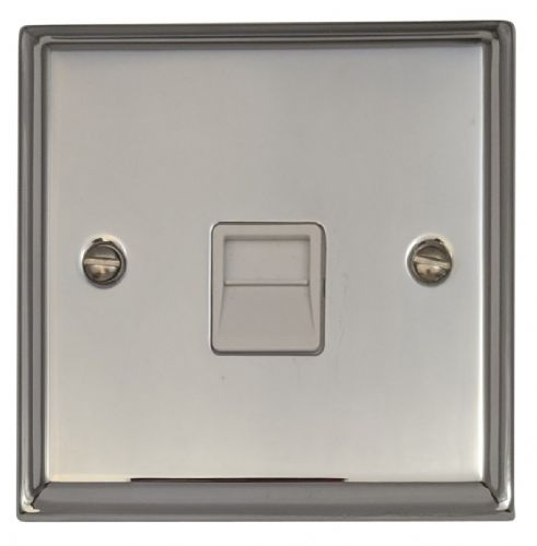 G&H DC33W Deco Plate Polished Chrome 1 Gang Master BT Telephone Socket